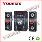 2.1 amplifier home theater sound system - high power 2.1 channel system for home use,USB,SD,FM remote control,LED Display