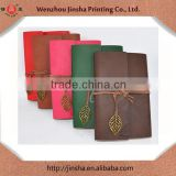 leather organizer file folder organizer notebook loose leaf type with leather rope and copper leaf