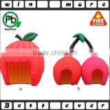 cute red apple inflatable dome tent prices, inflatable tent type for party or event,inflatable PVC tent