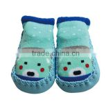 Soft hand feel baby size cute socks slippers