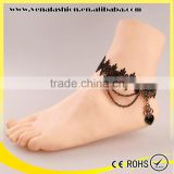 europe heart black lace imitation diamond jewelry