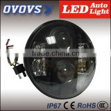 Big discount Guangzhou auto parts 80W led headlight offroad round for J-eep 4x4 Car