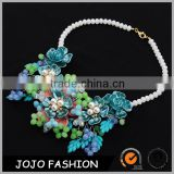 Beautiful pearl statement necklace jewelry latest design bead necklace                                                                                                         Supplier's Choice