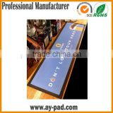 AY Rubber Mat Gym Nitrile Rubber Bar Mat With Non Woven Fabric Bordered Bar Runner, Nitrile Rubber Bar Runner