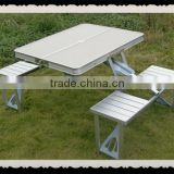 2015 new oudtoor aluminum and wood foldable picnic table                                                                         Quality Choice