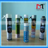 Waterproof foam sealant, 750ml 500ml gun type expanding polyurethane foam sealant, pu foam manufacturer
