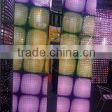 led strip curtain panel, full color transparent led mesh screen for stage