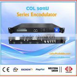 CATV digital headend equipment, encoder+modulator in one body,dvb-s2 tunner,RF modulator, Series Encode-modulator combo COL5011U