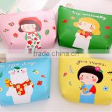 Fancy Promotion gift cute PU Leather Zipper Mini small cheap cartoon animal printing pouch wallet euro coin purse wholesale