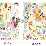 Large Colorful decal DIY world map wall stickers