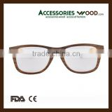 hot selling sunglasses & optical frames veneer wood glasses frames with acetate temple OEM design available