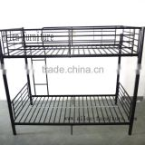 Metal Heavy Duty Adult Iron Steel Double Bunk bed for school dormitory or army or hotel and camp