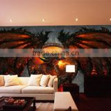 wholesale custom printed anime price 3d wall wallpaper, 3d wallpaper