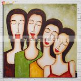 Colorful Women Abstract Paintings Faces on Canvas
