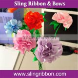 Beautiful Satin Ribbon Flower Handmade Carnation As Mother's Day Gift