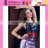 wholesale original selling Europe style bandage dress plus size sex ladies sequins bandage dress