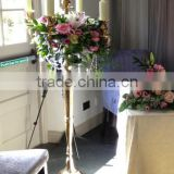 New style inexpensive wrought iron floor standing candelabra for wedding party decor