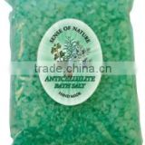 "Bath salts ""Anticellulite"", bag, 100g. Paraben Free. Made in EU. Private Label Available."