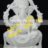White Marble Statue Of Lord Ganesh