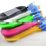 Amazing Lovely Smile Face USB Sync Data Line Charger Cable for apple iphone 4 usb otg cable