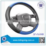 2014 custom 40 size Blue 3 wheel cover steering wheel cover for Asia Market auto accessories