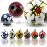 sweet printed picture UV ball acrylic body piercing jewelry,accessories