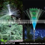 novelty solar stake professional color changing fiber optic lamp