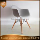 cafe furniture top quality plastic chair with arm