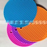 2016 China Alibaba Express Wholesale High Quality Round Table Mat Custom Silicone Hot Pot Mat/Cup Pad/Pot Holder