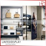 Modern classical Design Boutique Store Display Garment Shop Display Fixture in Racks for Purses and Bags Display