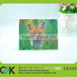 Super quality customize 3D lenticular animal cards postcard