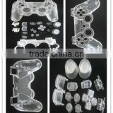 Factory Supply!Wholsesale/retail for PS3 controller transparent shell with full clear Button Parts
