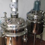 Jacketed stainless steel industrial steam mixing tank with agitator