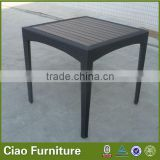 Outdoor bar gazebo furniture plastic wood top rattan table