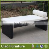 Rattan outdoor lounge bed / outdoor bench