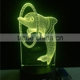 China supplier 3D acrylic mood lamp 3D led light optical illusion LED night light with ABS base