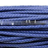 5mm round real braided leather cord various color for option for making jewelry bracelet
