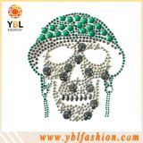 skull design Rhinestone hotfix design for clothes