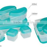 6pcs mini combine lunch storage box set and plastic meal prep containers boite a vivres