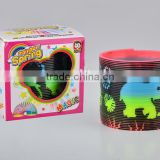 plastic colorful magic rainbow spring with printed elephant toys/hot sale rainbow circle