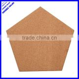 Quality different shape cork board,pentagon shaped cork board