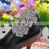 SF0816 2014 New design wedding chain rhinestone flower shoe accessory for women