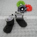 Cheap black ankle boots for baby china wholesale baby shoes