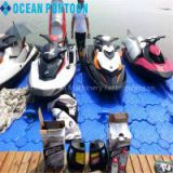 Floating jet ski dock