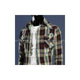 cotton yarn dyed check Long sleeve shirt