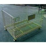 Wire Mesh Container(colored zinc-plating,yellow color zink-plating)