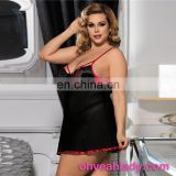 In Stock Plus Size Stylish Black Floral Lace XXX Men Sexy Babydoll