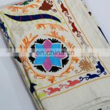 Wholesale Indian Uzbek Suzani Flower Hand Embroidered Bed-cover