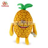 ISO9001 Approved Factory Custom Best Plush Fruit Toy Stuffed Pineapple