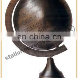 SOLD BRASS VERTICAL GLOBE